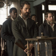 Newt (Matthew McConaughey), Jasper (Christopher Berry) and the freedmen come into the Alice Hotel to vote