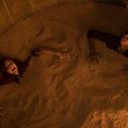 """Laura Vandervoort as """"Anna"""" and Mandela Van Peebles as """"Mitch"""" in JIGSAW. Photo by Brooke Palmer."""