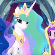 From L to R: PRINCESS LUNA (Tabitha St. Germain), PRINCESS CELESTIA (Nicole Oliver) and PRINCESS CADENCE (Britt McKillip) in MY LITTLE PONY: THE MOVIE.